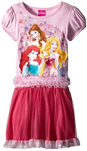 Disney Little Girls' Princess Tutu Dress, Petal Pink, 6X