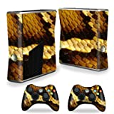 Protective Vinyl Skin Decal Cover for Microsoft Xbox 360 S Slim + 2 Controller Skins Sticker Skins Python