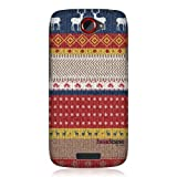 Head Case Designs Sweater Knitted Christmas Design Protective Snap On Case for HTC One S