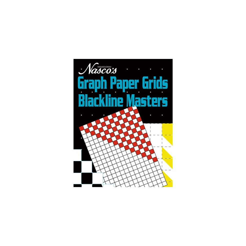 Nasco TB24974T Graph Paper Grids Blackline Masters, 184 Page Book, Grades Pre K+