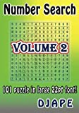 Number Search: 101 puzzle in large 22pt font! (Volume 2)