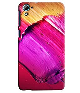 Blue Throat Pink Design Inpsired Hard Plastic Printed Back Cover/Case For HTC Desire 826