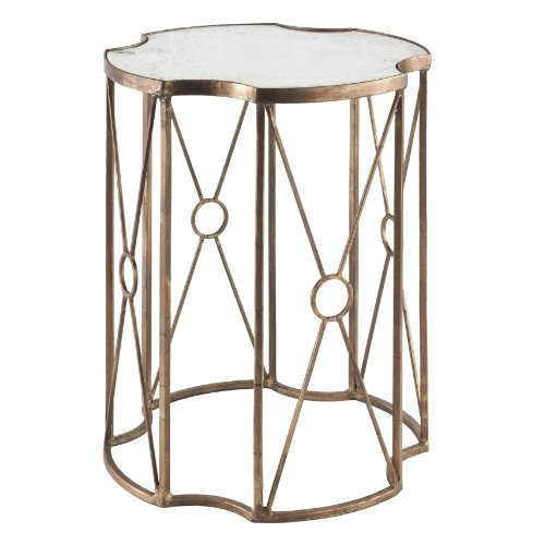 Buy Low Price Marlene Antique Gold Leaf Mirrored Side End Table (F190)