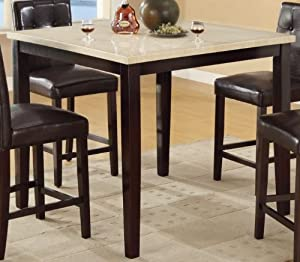 Amazon Com Counter Height Table With Faux Marble Top By