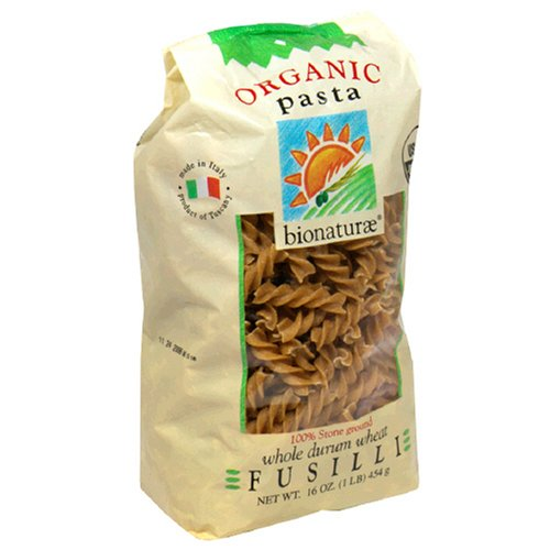 Buy Bio Nature Organic Pasta, Whole Wheat Fusilli, 16 Ounces (Pack of 6)