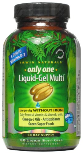 Irwin Naturals Only-One Multi W/O Iron 60 Softgels
