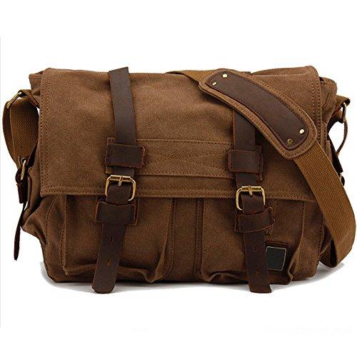 Men's Shoulder Satchel Crossbody Messenger Bag for Work/Business/Hiking/Traveling/Camping/School/Office/Daily Use Cafe (Vintage Mail Bag compare prices)