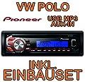 VW Polo 9N - Pioneer DEH1600UBB - CD/MP3/USB Radio - Einbauset von just-SOUND bei Reifen Onlineshop