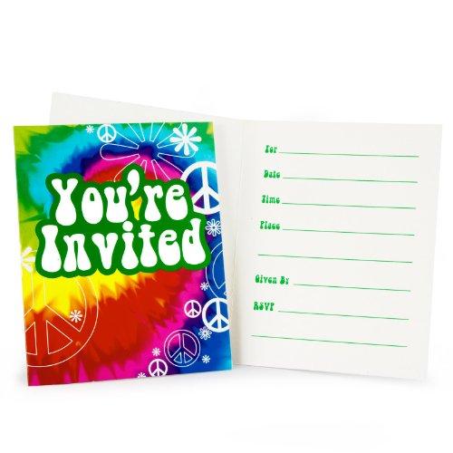 Tie Dye Fun Invitations (8 count)
