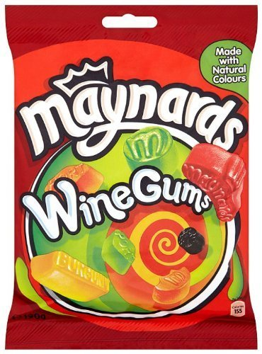 Maynards Wine Gums Bag 190g 3 Pack (Wine Flavored Candy compare prices)