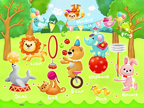 Pintoo - T1017 - Showpiece Junior - Circus in the Forest - 48 Piece Plastic Puzzle - 1