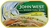 John West Selected Smoked Tuna Slices In Sunflower Oil 120 g (Pack of 4)