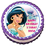 PERSONALISED Disney Princess Jasmine Edible Birthday Icing Cake Topper 7.5