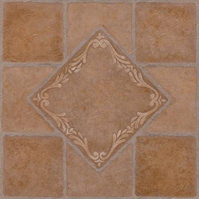 Achim Home Furnishings FTVMA44520 Nexus 12-Inch Vinyl Tile, Southwest Ceramic, 20-Pack