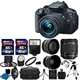 Canon EOS Rebel T5i 18.0 MP CMOS Digital Camera Digital SLR Camera Bundle with Lens, Carrying Bag and Accessory Kit (20 Items)