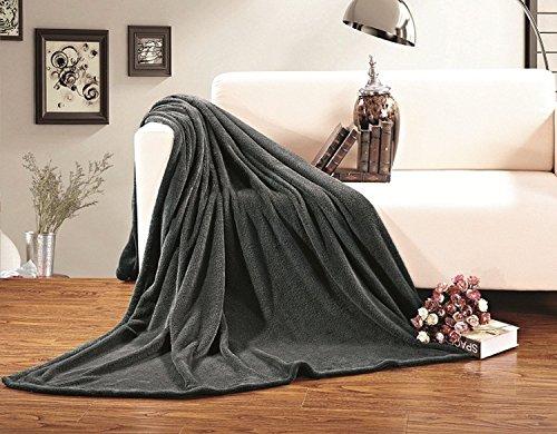 Elegant Comfort® Super Soft Micro-Fleece Full/Queen Size Blanket, Gray front-189121