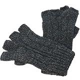アクリル無地指なし手袋(男女兼用)(スマートフォン対応 手袋)(フィンガーレスグローブ)