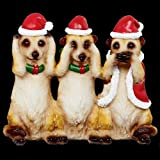 The Three Wise Christmas Meerkats Ornament Decoration - Hear, See & Speak No Evil (Meercat)