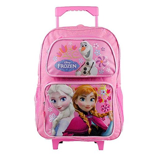16 Disney Frozen Pink Roller Backpack