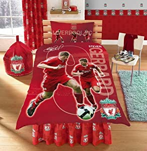 Liverpool Fc Official Single Duvet Set Gerrard
