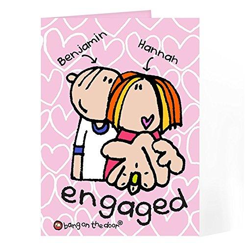 Personalised BOTD Engaged personalizzabile-Biglietti di auguri, libri e cancelleria