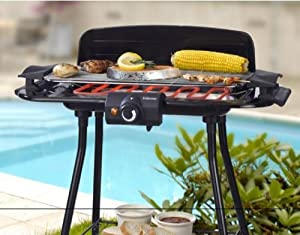 bbq elektro grill mit st nder 2000 watt barbecue elektrogrill tischgrill f r k che balkon. Black Bedroom Furniture Sets. Home Design Ideas