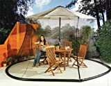 Umbrella Mosquito Net Canopy Patio Table Set Screen House - Large Premium Netting