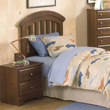 Standard Furniture Parker 2 Piece Kids Headboard Bedroom Set In Golden Brown Cherry front-1026058
