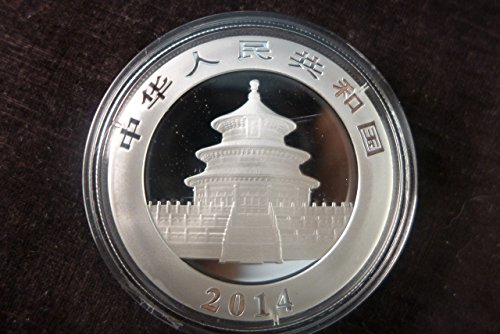 2014 China Panda 1 oz Silver 10 Yuan Encapsulated Uncirculated