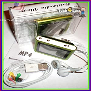 MP3 MP4 PLAYER 8GB 6th Gen 1.8 inch Touch Screen With FM - GREEN