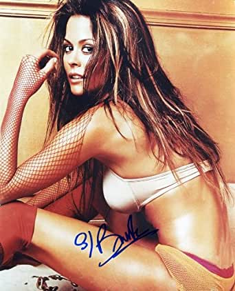 BROOKE BURKE * very sexy signed 8x10 photo at Amazon's Entertainment