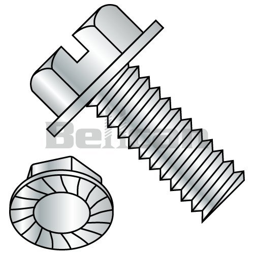 Import Pack of 100 Steel Pan Head Machine Screw With External-Tooth Lock Washer #10-32 Thread Size Slotted Drive Meets ASME B18.13 Zinc Plated Fully Threaded 3//4 Length