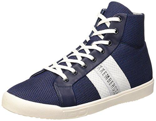 Bikkembergs Campus 737 M.Shoe M Fabric/Leather - Sneaker alta da uomo, Blu (Blue/White), 42