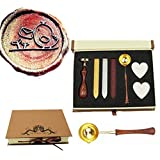 MNYR Bird with Envelope Grass Wax Seal Stamp Kit Wooden Handle Melting Spoon Candle Gift Box Set- Ideal for Decorating Gift Packing, Envelopes, Parcels, Cards, Letetrs, Wedding Invitations Seal Stamp (Color: Gift Box Set)