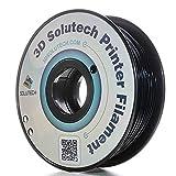 3D Solutech Real White 1.75mm Flexible 3D Printer Filament 2.2 LBS (1.0KG) (Color: black)