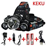 Keku LED High Power Headlamp Recharge...