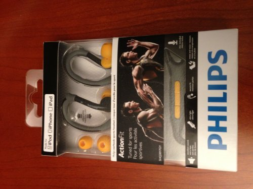 Philips Actionfit Earhook Headphones With Remote And Mic - Gray (Shq3017Gy/28)