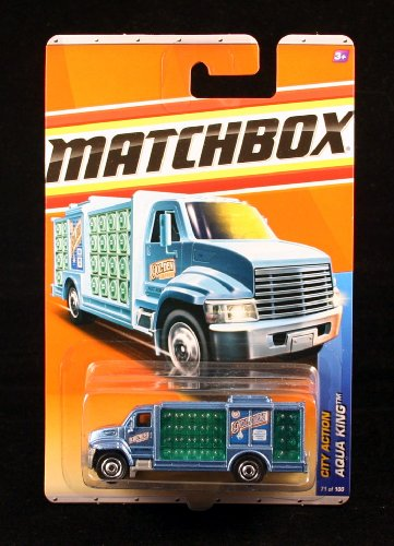 AQUA KING * BLUE * City Action Series (#12 of 14) MATCHBOX 2011 Basic Die-Cast Vehicle (#71 of 100) - 1