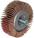Merit Super Finish Quick-Change Mini Grind-O-Flex Abrasive Flap Wheel, Threaded Spindle, Ceramic Aluminum Oxide