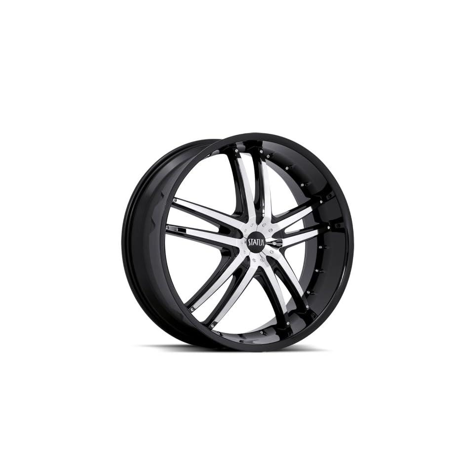 Status Fang S820 22x9 BMW 6 7 Series Chevrolet Cadillac Wheels Rims Chrome Insert Black Lip 4pc   1set