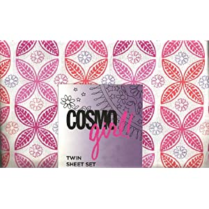 Amazon.com: Cosmo Girl! Pink and Orange Flower Twin Sheet Set ...