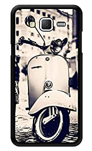 """Humor Gang Retro Scooter Monochrome Printed Designer Mobile Back Cover For """"Samsung Galaxy Grand 2"""" (3D, Glossy, Premium Quality Snap On Case)"""