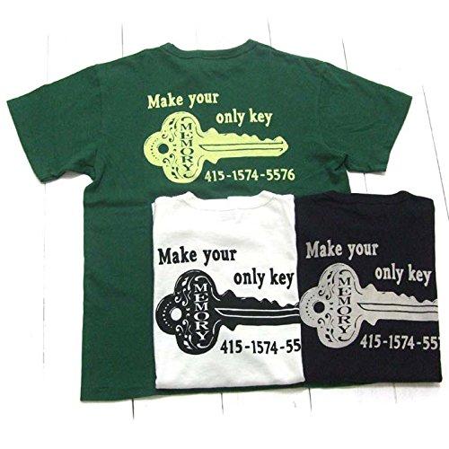 Pherrow's (フェローズ) 15S-PTJ14 プリントTシャツ『MEMORY KEY』 ブラック サイズS