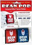 Bean Pod 2 Pk: Universal Nike+ iPod Sensor Holder - Nike Plus iPod Sensor Cases, Works w/ All Shoes: 1 Red Sensor Shoe Pouch and 1 Blue Sensor Shoe Pouch