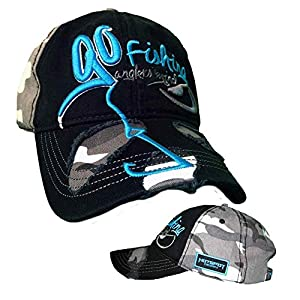 Hotspot Design Cap Go Fishing, black-night camou color by HOTSPOT DESIGN