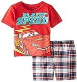 Disney Little Boys' Cars Toddler Tee and Woven Plaid Short Set
