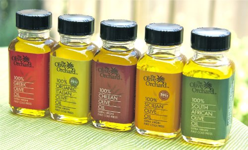 5 Bottle World Olive Oil Sample Set by The Olive Orchard