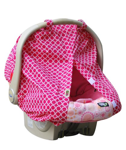 Padalily Infant Car Seat Canopy Cover, Ring Pink