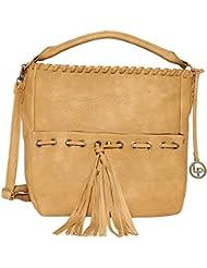 Lino Perros Women's Handbag (Beige) - B01IVGK5O0