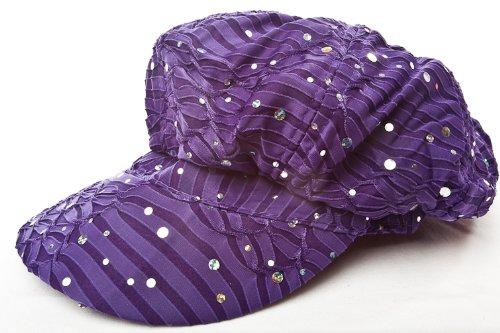 Sparkle Newsboy Cap - Purple